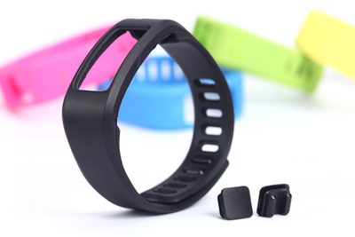 Купить с кэшбэком ZycBeautiful Comfortable for Garmin Vivofit 1 wrist strap TPE and TPU replacement band with Clasp S and L size