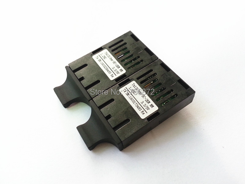 10/100 / 1000M Dual Fiber 1x9 Modul de transceiver optic 20KM 1310nm SC 3.3 / 5V
