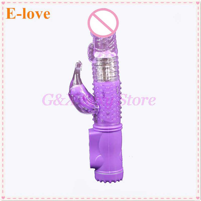 12 modi Vibrator Kaninchen G-punkt Vibrierender Penis Hülse Vibration & Rotation Body Massager Vibrator Weibliche Sex Spielzeug
