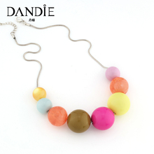 Dandie Cute Candy Color Acrylic Bead Necklace, Choker Statement Necklace, Daily Wear Jewelry dandie black acrylic bead fashion necklace jewelry short statement necklace