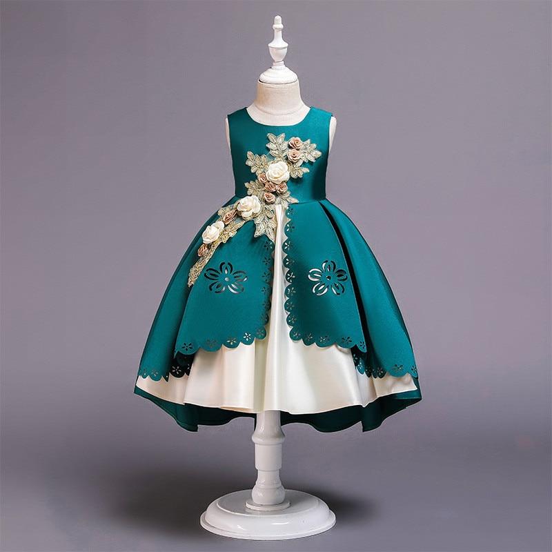 HTB1b0gbX.Y1gK0jSZFMq6yWcVXaL Girls Dress Christmas Kids Dresses For Girls Party Elegant Princess Dress For Girl Wedding Gown Children Clothing 3 6 8 10 Years