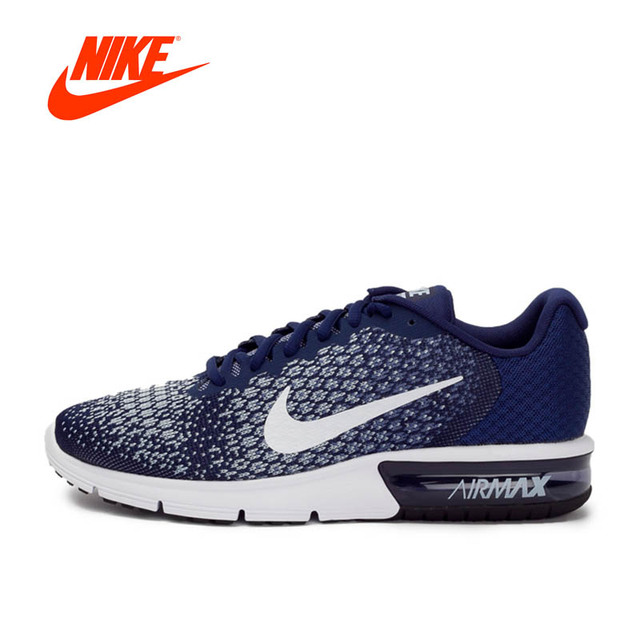 82561f8481 New Arrival Original NIKE Breathable AIR MAX SEQUENT 2 Men's Running Shoes  Sneakers Outdoor Walking jogging