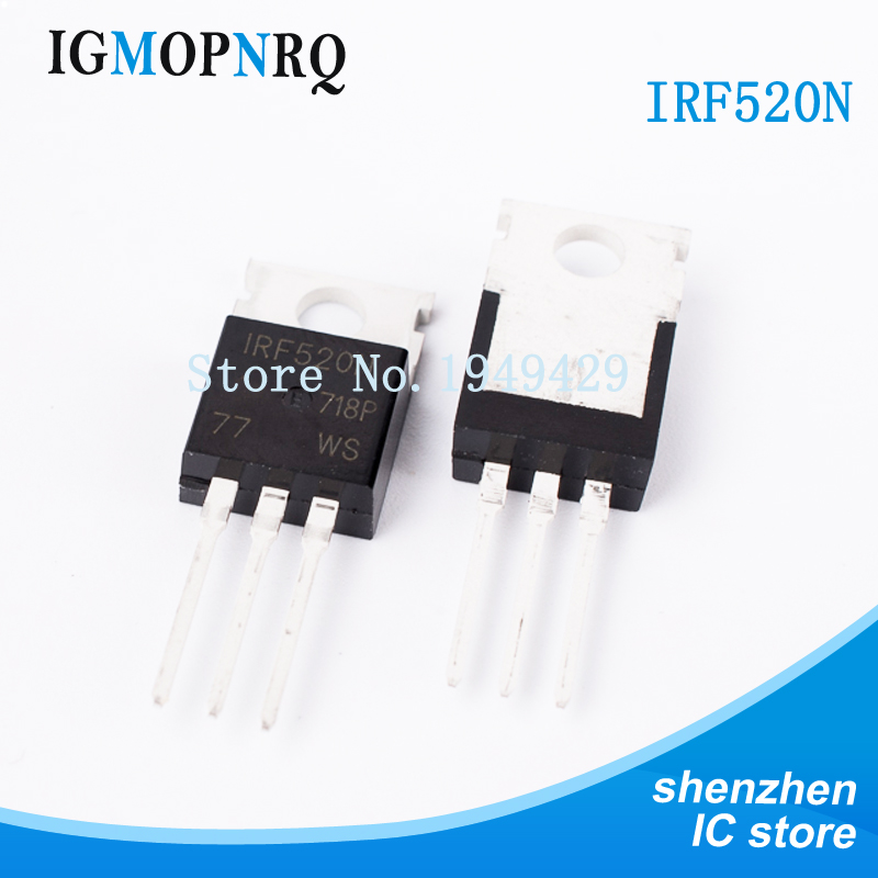 10PCS IRF520 TO-220 IRF520N  MOSFET MOSFT 100V 9.5A 200mOhm 16.7nC New original free shipping10PCS IRF520 TO-220 IRF520N  MOSFET MOSFT 100V 9.5A 200mOhm 16.7nC New original free shipping