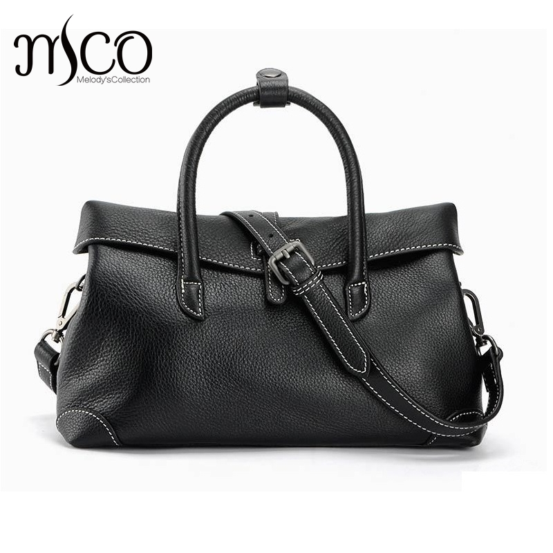 Bolsos Mujer 100% Genuine Leather Women's Handbag Shoulder Bags Ladies Crossbody Bag Luxury High Quality Fashion Purses Tote Bag genuine leather women bag 2018 summer handbag wrinkle skin female high quality cowhide shoulder crossbody bolsos mujer beach bag