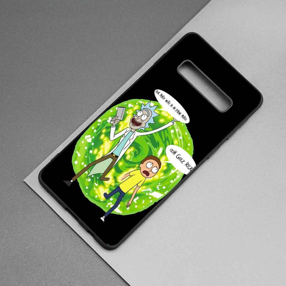 Rick et Morty noir Silicone étui pour samsung Galaxy M20 S10e S10 S9 M10 S8 Plus 5G S7 S6 Edge M40 M30 bande dessinée Coque souple