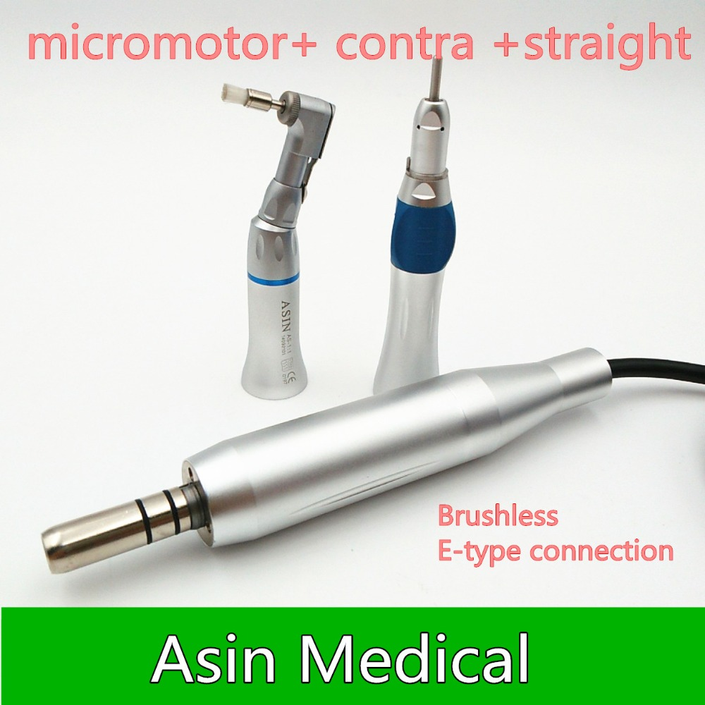 Dental Lab Equipment Polisher Micromotor Hand piece Contra Angle And Straight High Speed 50 000rpm Electric Grinder Brushless