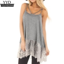 e5c54146441 Summer Tank Top Womens Streetwear Lace Patchwork Long Tops Sexy Club  Sleeveless Tunic Ladies Clothes Women