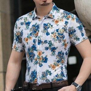 Image 4 - Hawaiian Casual 80% ผ้าไหมเสื้อผู้ชายแขนสั้นทั้งสองด้านพิมพ์มังกรจีนNationดอกไม้ 2020 ชายหาดฤดูร้อนเสื้อผ้า