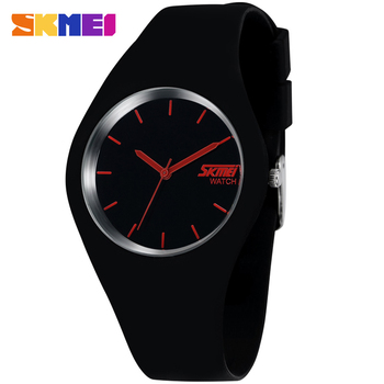 цена 2019 Skmei Quartz-watch Fashion Men Casual Watches Quartz Watch Women Waterproof Jelly Female Clock Hours Ladies Women Watches онлайн в 2017 году