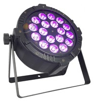 18x15 6in1 Aluminium Slim Theater Stage Lights Sound Active Master slave RGBWA+UV Aluminum LED Stage Light LED Par DJ Equipment