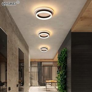 Image 4 - Led Kroonluchter Licht Gang Hal Opbouw Acryl Plafond Backlight 20W Moderne Lamp Lustres Lampadario AC85 260V