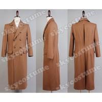 Original Doctor Who Dr. Brown lana larga Trencas chaqueta traje Cosplay Carnaval de Halloween conjunto completo