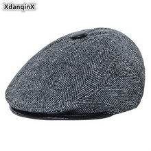 XdanqinX Autumn Winter Adult Mens Hat Warm Cotton Berets Simple Thermal Middle-aged Men Earmuffs Hats  2019 New Dad Brands Caps