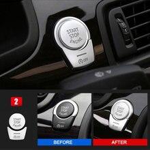 Car styling Chrome Interior interruptor de PARADA de PARTIDA DO MOTOR botão Covers Guarnição Adesivos para BMW 5/6/7 series f10 GT F07 F chassis