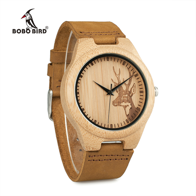BOBO BIRD Elk Deer Bamboo Watches
