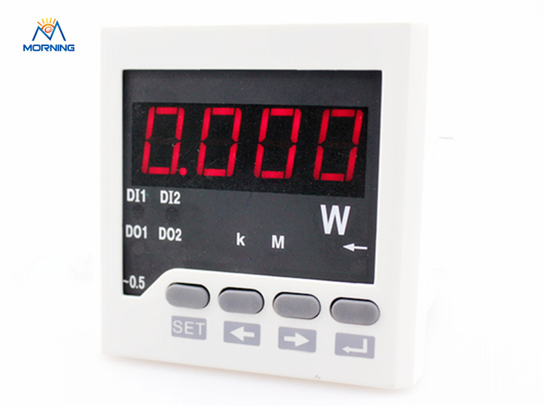 3P61 factory price frame size 72*72mm hot sale three-phase led display ac digital active power meter me 3h61 72 72mm led display 3 phase digital power factor meter support switch input and transmitting output