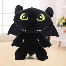 цены Hot Anime How To Train Your Plush Toys 10inch Toothless Dragon Black NightFury Cartoon Soft Stuffed Dolls Toy Gift For Kids