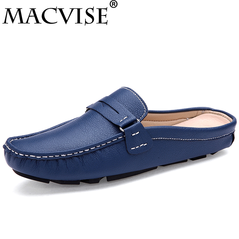 2018 New Men Casual Shoes Driving Slip-on Slippers Mules Spring Summer Breathable&light Outdoor Flat Loafers
