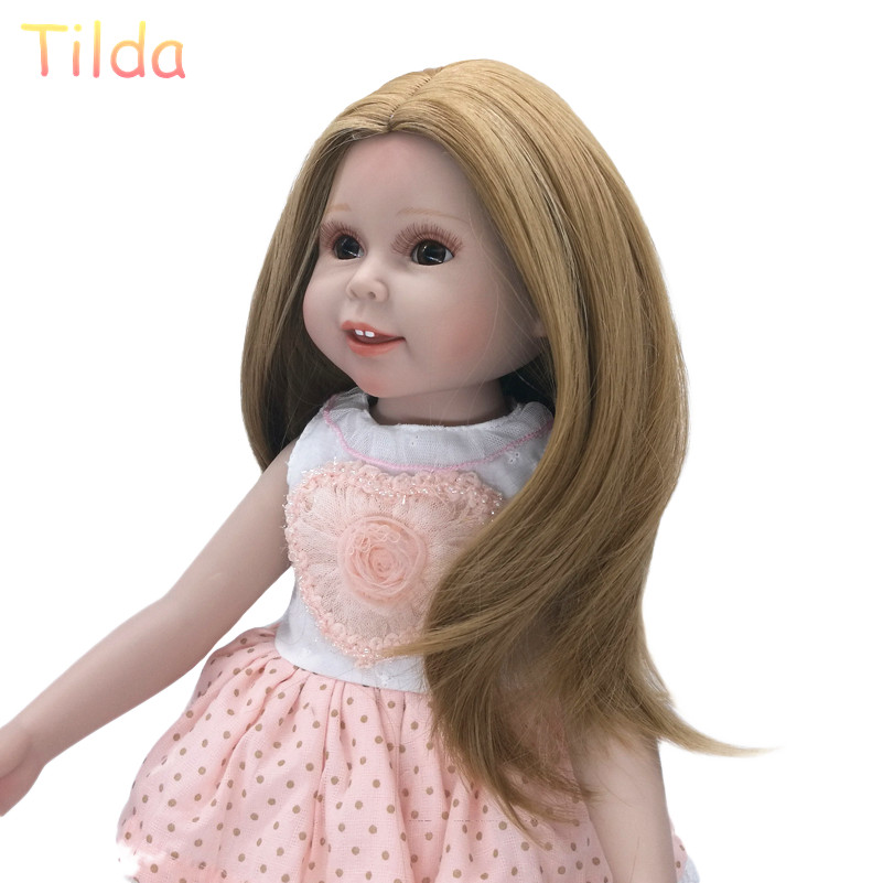 Tilda 25-28cm Head Size Fashion Hair Wigs for Dolls Puppet High-Temperature Doll Wig Hairs Accessories for Dolls Wigs 10pcs/lot