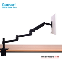 High Quality Aluminum Alloy Free Lifting Ultra-long Arm LED LCD Monitor Holder Lengthen Arm Table Clamping Full Motion TV Mount