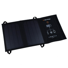 7W Foldable Solar Cell USB Charger Outdoor Camping Hiking Travel Charger Solar Battery Pack Portable Power Bank
