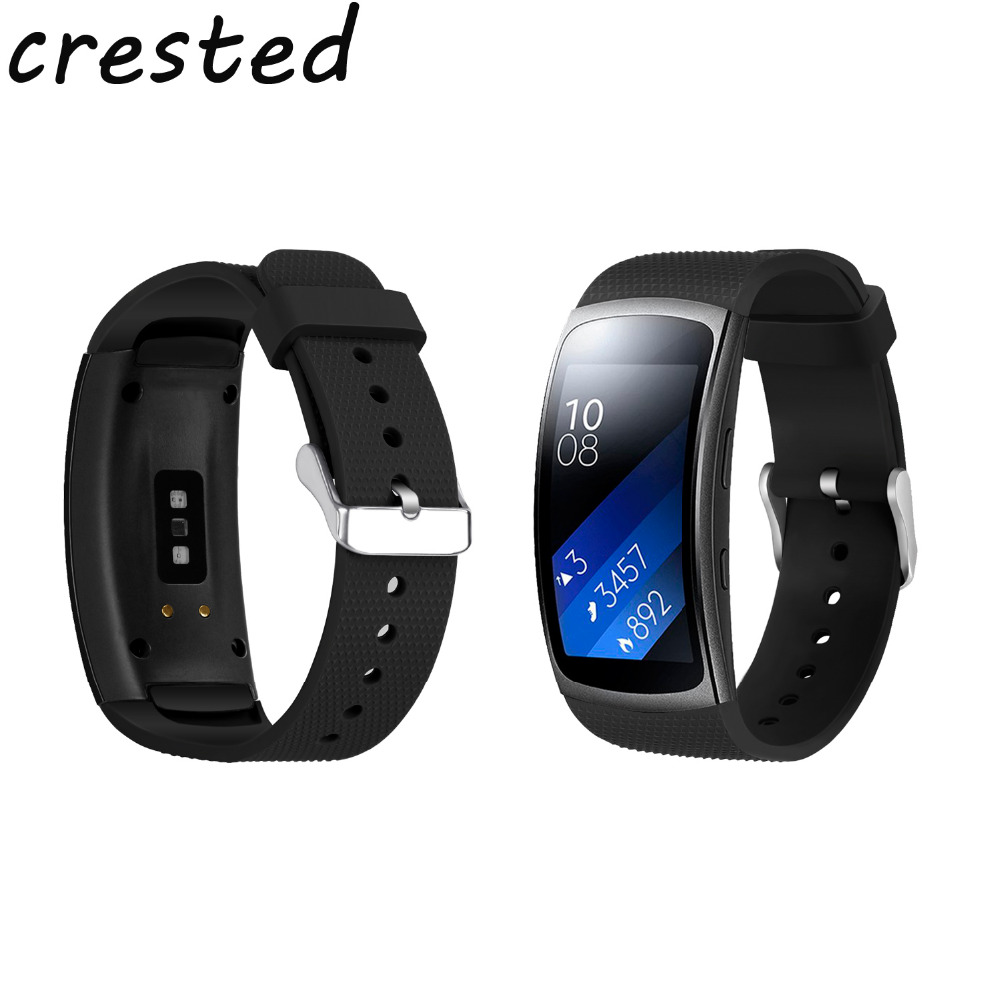 CRESTED new sport soft silicone band for Samsung Gear Fit2/fit 2 Pro R360 R365 R366 Smart Watch strap replacement rubber strap samsung gear fit в казани