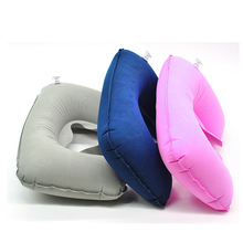 купить U-shape Travel Pillow Portable Inflatable Neck Support Pillows Head Rest Air Filling Soft Cushion For Car Airplane Home Textile дешево