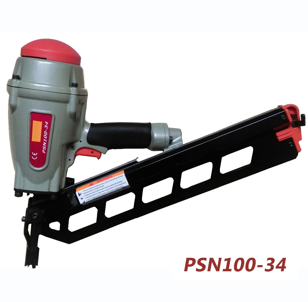 100MM 34 Degree Clipped Head, Paper Strip Framing Nailer Gun