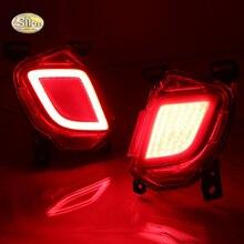 SNCN LED Rear Bumper Lights For Toyota Highlander 2015-2016 LED Car Rear Bumper Reflector Tail Brake Light turning lights