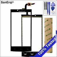 Panel de lente de vidrio negro con Sensor de Digitalizador de pantalla táctil SanErqi para Philips Xenium S398 con adhesivo de herramientas