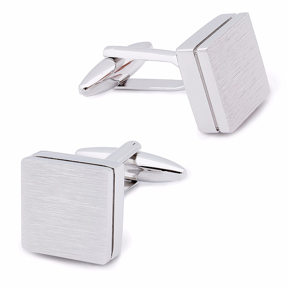 Image 5 - HAWSON Retailed Formal Brushed Cufflinks Men's Suit Shirt IP Black CuffLinks High Quality with Gift Box-in Tie Clips & Cufflinks from Jewelry & Accessories