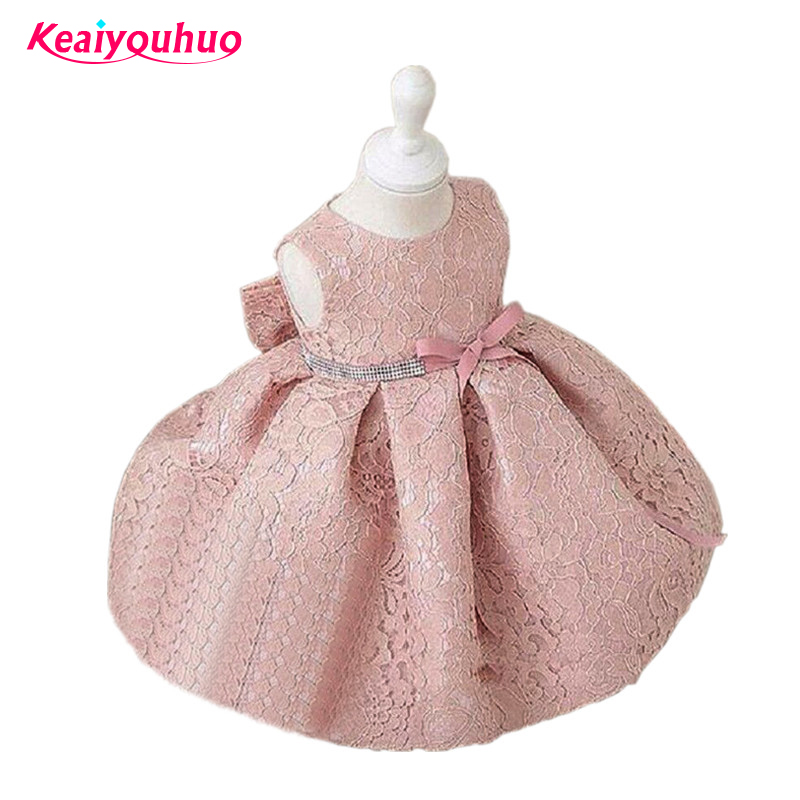 Baby Girl Dresses 2017 Summer Dress lace Flower Sleeveless vest Princess Party Baby Girl Wedding Dress Birthday kids clothes