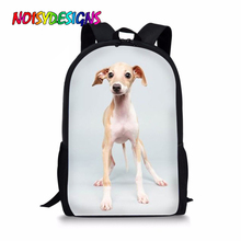 NOISYDESIGNS New Kids Girls Greyhounds Dog Print School Bags for Teenagers Shoulder Backpack Students Bookbag Mochila Infantil