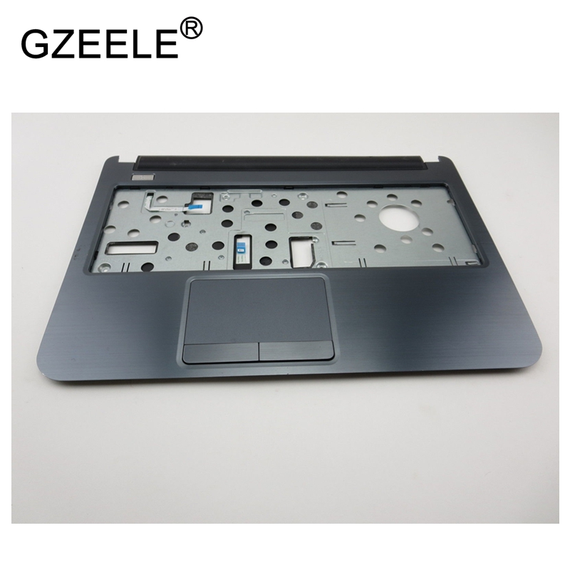 GZEELE New laptop case for Dell Inspiron 3437 5437 TOP COVER Palmrest Upper Case KB Bezel Cover With Touchpad 1YKXY 01YKXY GREY brand new laptop top cover palmrest cover case with keybaord upper cover top case for dell inspiron 13 7000 7347 7348 7352 7359