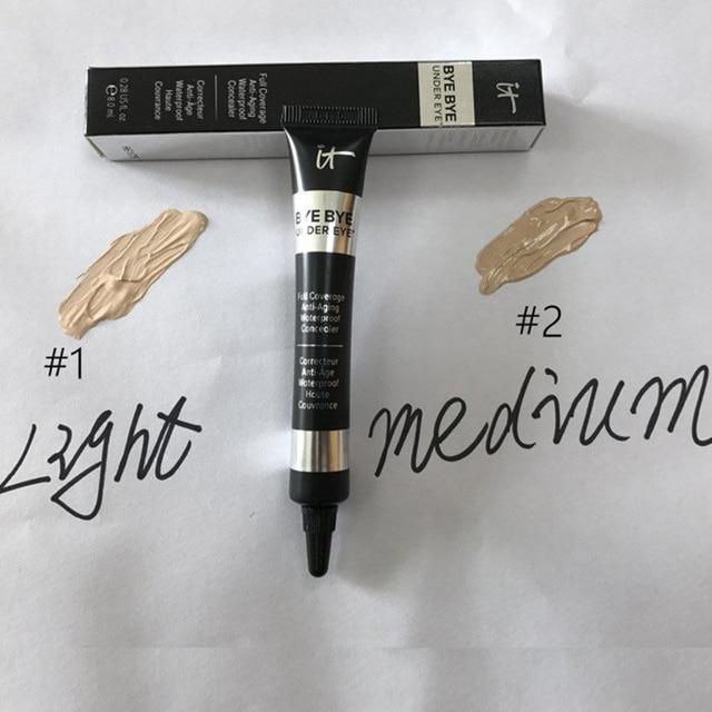 Concealer Cream It Cosmetics Bye Bye Under Eye Full Coverage Waterproof Foundation Medium Light Cover Eye Dark Circles 1