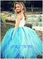 Children Blue Bust Skirt Gauze Tutu Skirt Girls TUTU Skirt Ballet Tutu Skirts Wedding