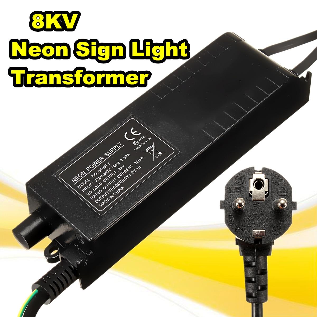 8KV 220 В 30mA неоновый знак трансформатор Питание + диммер неоновый отрегулировать балласта