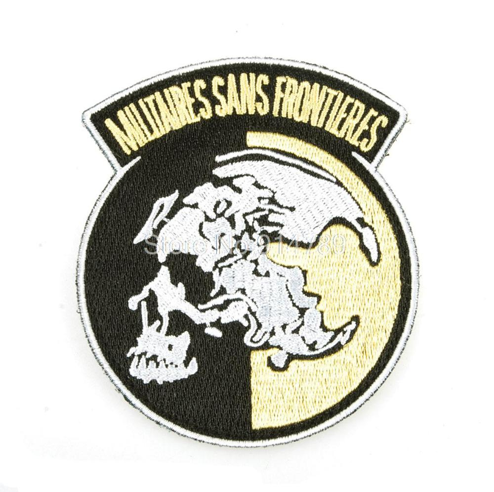 METAL GEAR PEACE WALKER MILITAIRES SANS FRONTIERES  BADGE PATCH-34383