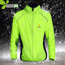 WOSAWE Reflective Water Repellent Cycling Jackets 5 Color Rain Clothing Bicycle Wear Windproof Coat MTB Bike Windbreaker S-3XL fashion boy s letter printed pattern coats children s water repellent windproof softshell jackets tops
