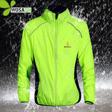 WOSAWE Reflective Water Repellent Cycling Jackets 5 Color Rain Clothing Bicycle Wear Windproof Coat MTB Bike Windbreaker S-3XL(China)