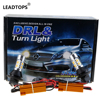 LEADTOPS LED DRL Turn Signal Light T20 +1156 Car Auto Front Side Turn Signal + DRL Daytime Running Lights Bulbs FOR MAZDA DB