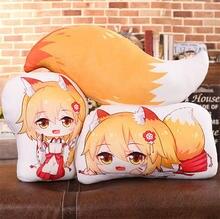 Oreiller en peluche Double face Sewayaki kitsune no senko-san fox miss tail, oreiller Cosplay, traversin unisexe pour enfants et adultes