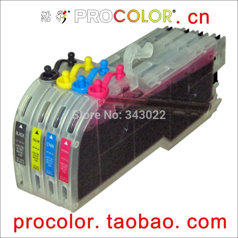 PROCOLOR Long Refill ink cartridge LC39 LC60 LC975 LC985 full compatible with LC11 LC16 LC110 LC61