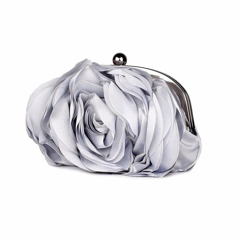mulher moda rosa flor corrente mão saco