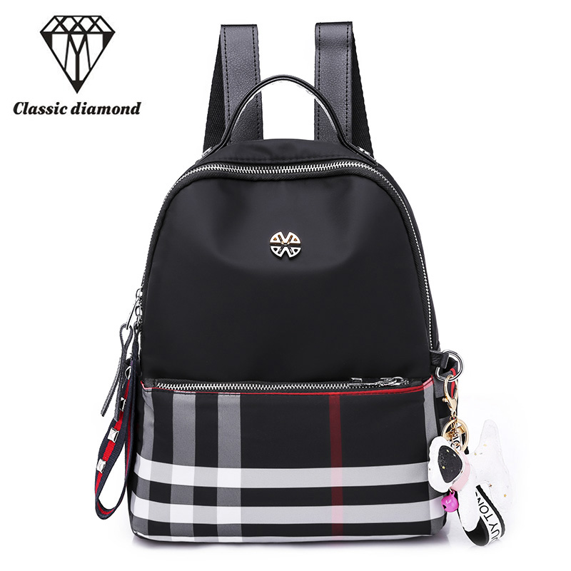 Summer Women Daily Backpack High Quality Waterproof Nylon Preppy Style School Bags For Teenagers Girls Black Travel Shoulder Bag canvas backpack women dot school bag for teenagers girls preppy style composite bags set travel high quality female backpacks