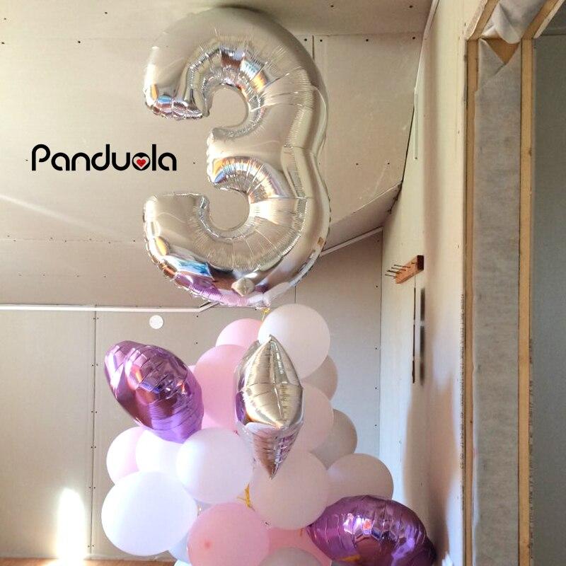 1ks 40 palcových zlatých balónků Digitální 0-9 Počet balónků Svatební narozeniny Party Dekorativní nafukovací balao de festa casamento