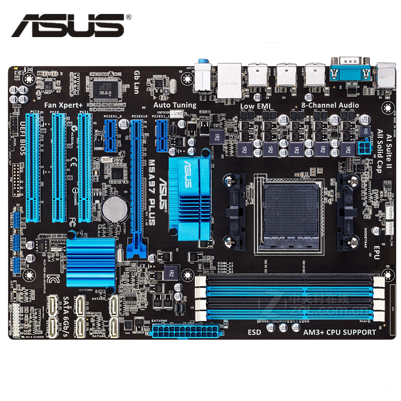 ASUS M5A97 Plus Motherboard DDR3 For AMD 970 M5A97 Plus Desktop Mainboard Systemboard USB 2.0 SATA III PCI-E X16 Used asus m5a97 plus motherboard ddr3 for amd 970 m5a97 plus desktop mainboard systemboard usb 2 0 sata iii pci e x16 used