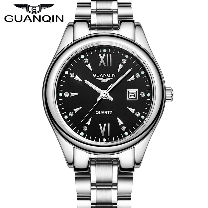 Original GUANQIN Women Watches 2014 New Fashion Luxury Ladies Quartz Watch Top Brand Full Steel Gold Dress Wristwatches women dress watches top luxury brand guanqin women s fashion stainless steel bracelet quartz watch ladies watches gold watch