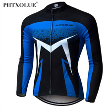 Phtxolue Pro Long Sleeve Cycling Jersey MTB Bike Clothing Wear Autumn Bicycle Clothes Ropa De Ciclismo