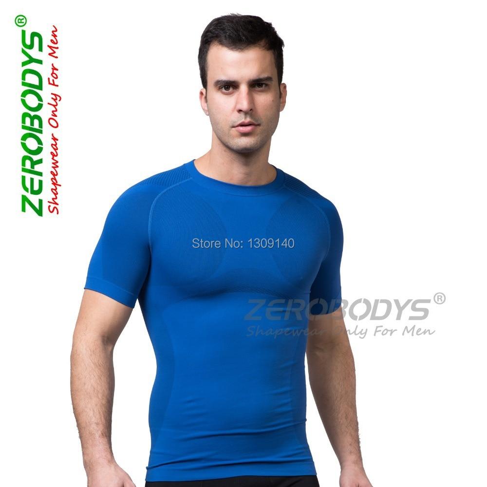 Männer Kompression T-Shirt abnehmen Body Shaper Shapewear Kleidung Fitness Shirt Scuplt Muskel Bauch Gürtel Top Unterwäsche B391